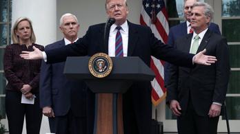 Trump évekig is hajlandó húzni a kormányzati leállást