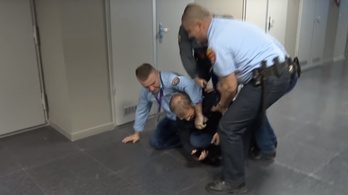 Leaked footage shows Hungarian MP assaulted by state media security staff