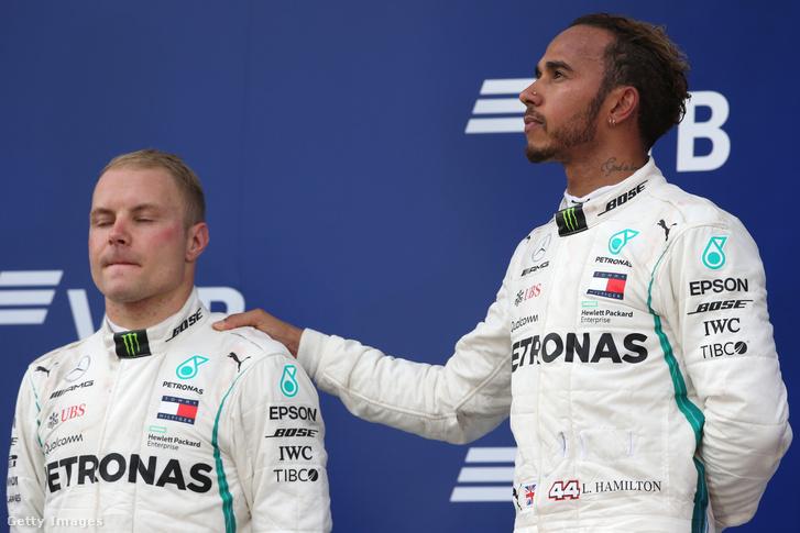 Bottas és Hamilton 2018-ban