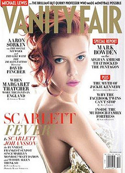 Scarlett a decemberi VF címlapján