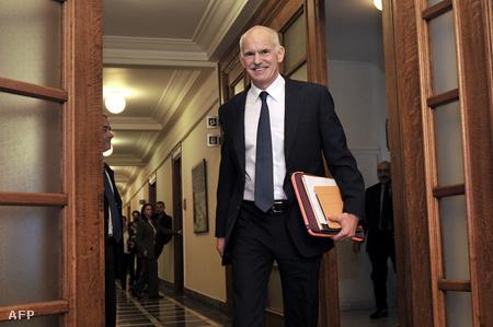 Jeórjiosz Papandreu a rendkívüli kormányülés után