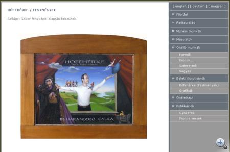 Korényi János weboldala. Képének illusztratív felhasználását nem engedélyezte a festő