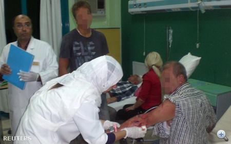 Kórházban a sérült magyarok.