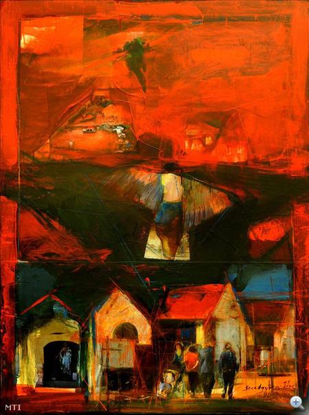 Szentgyörgyi József: A vörös iszap című alkotása