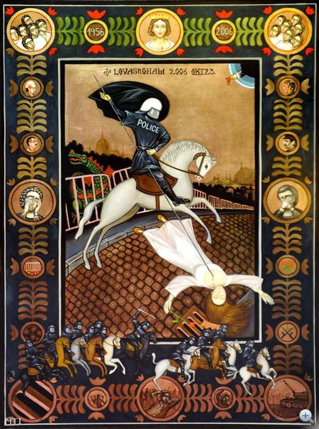 Korényi János: Lovasroham (2006. október 23.) című alkotása