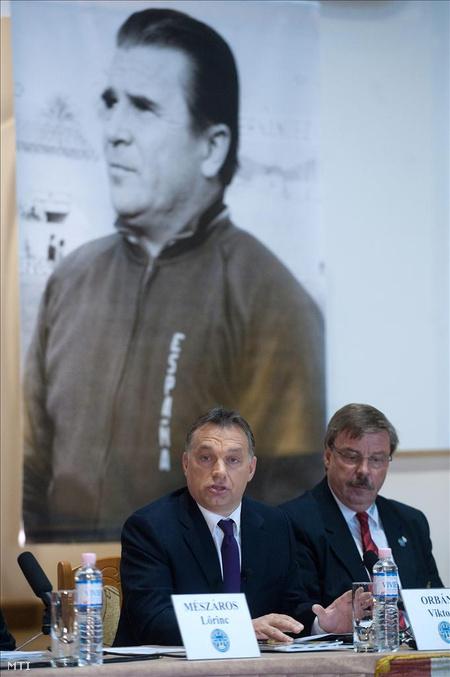 Orbán a PFLA alapítója a felcsúti Puskás Ferenc Labdarúgó Akadémián