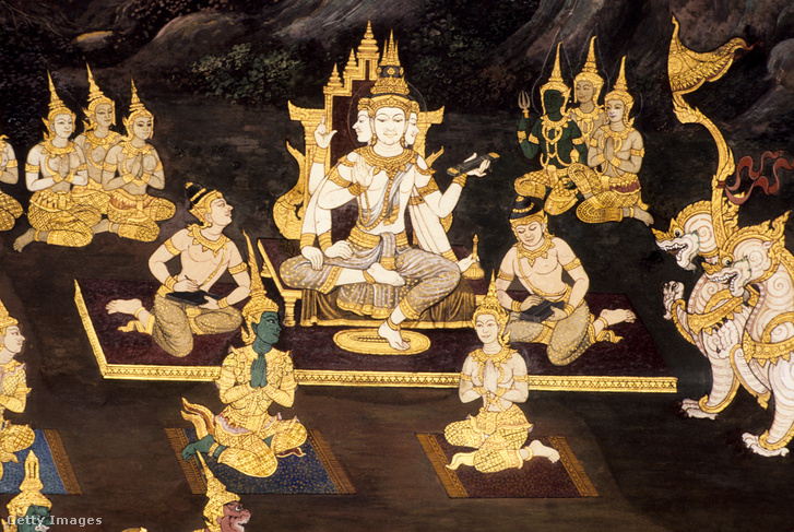 Egy történet ábrázolása Ramayana életéből