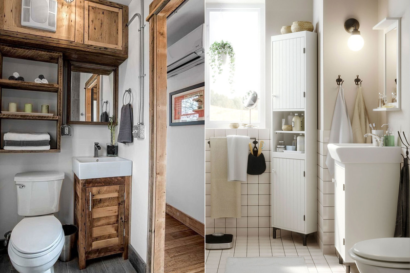10 praktikus és egyszerű ötlet aprócska fürdőkbe - Több helyet nyersz velük