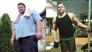 Leadott 60 kiló zsírt, felpakolt 20 kiló izmot, ma már edzéseket tart