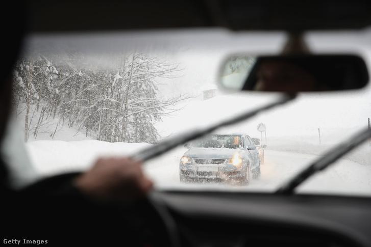Havazás Ausztriában 2019. január 5-én.
