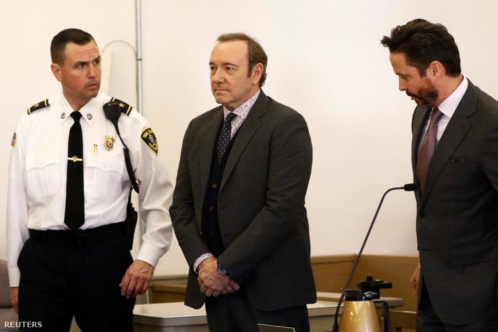 Kevin Spacey a bíróságon 2019. január 7-én.