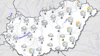 Egyre több helyen várható havazás