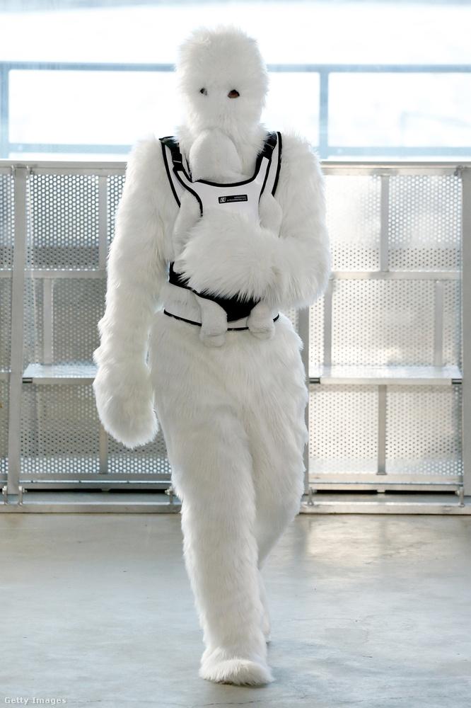 És ha már lúd, volt albínó csubakka is, természetesen hordozóban viselt bébicsubakkával