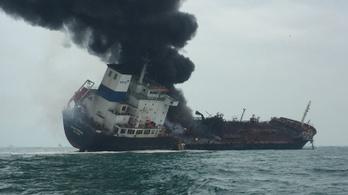 Kerozinszállító tanker lángol Hongkong közelében