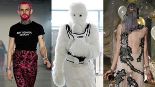 Szerencsétlen modellek! Újabb adag zakkant-nevetséges divat, most Londonból