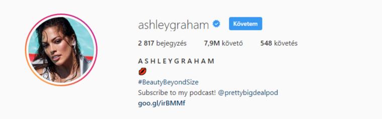 Ashely Grahamnek, a leghíresebb plus-size modellnek is várnia kell még arra, hogy két számjegyű legyen az összeg a follóverei mellett.