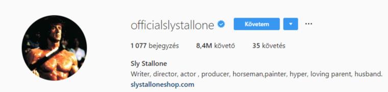 Sylvester Stallone eredménye pedig ugyan szép, de van még hova fejlődnie.