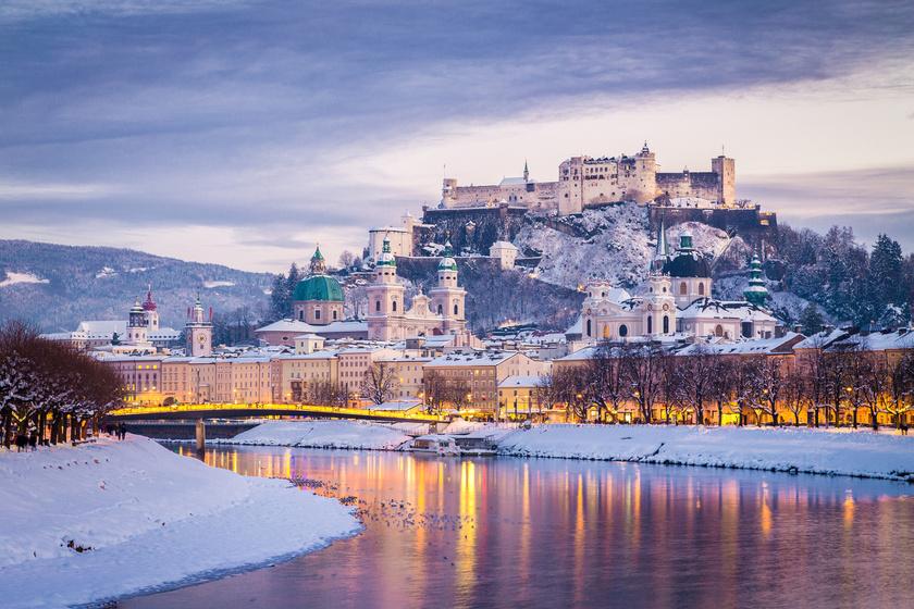 Télen mutatja a legszebb arcát a város: Salzburgot egyszer látni kell
