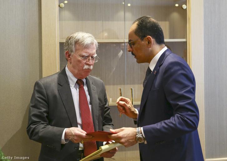 Bolton és Kalin a megbeszélésük után Ankarában, 2019. január 8-án.