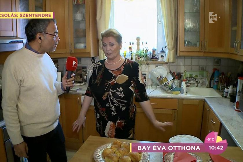 Bay Éva bevallása szerint a pici konyhában sokkal egyszerűbb a főzés.