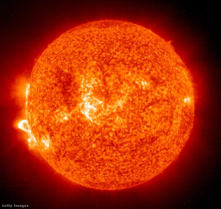 A NASA Nap- és Helioszférikus Megfigyelőközpontja által 2003. november 18-án rögzített felvétel egy napkitörésről
