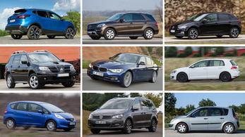Használt autók kintről: ezeket veszik a magyarok