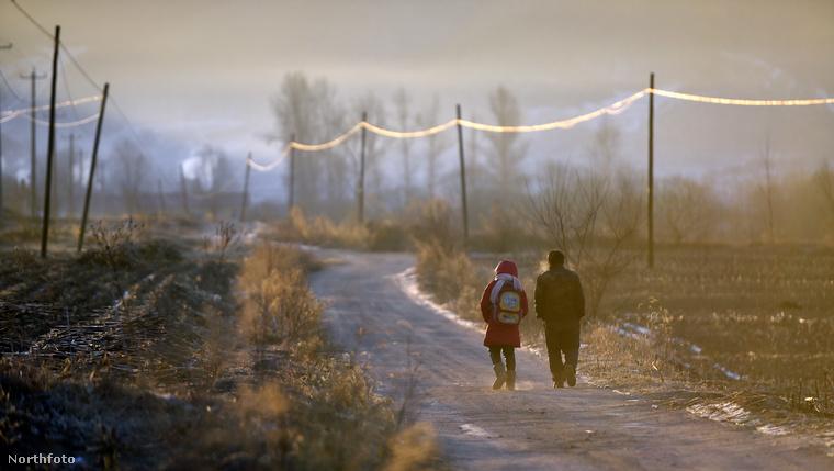 És mikor befejeződik az utolsó óra, a tanár és diákja együtt indulnak el hazafele.