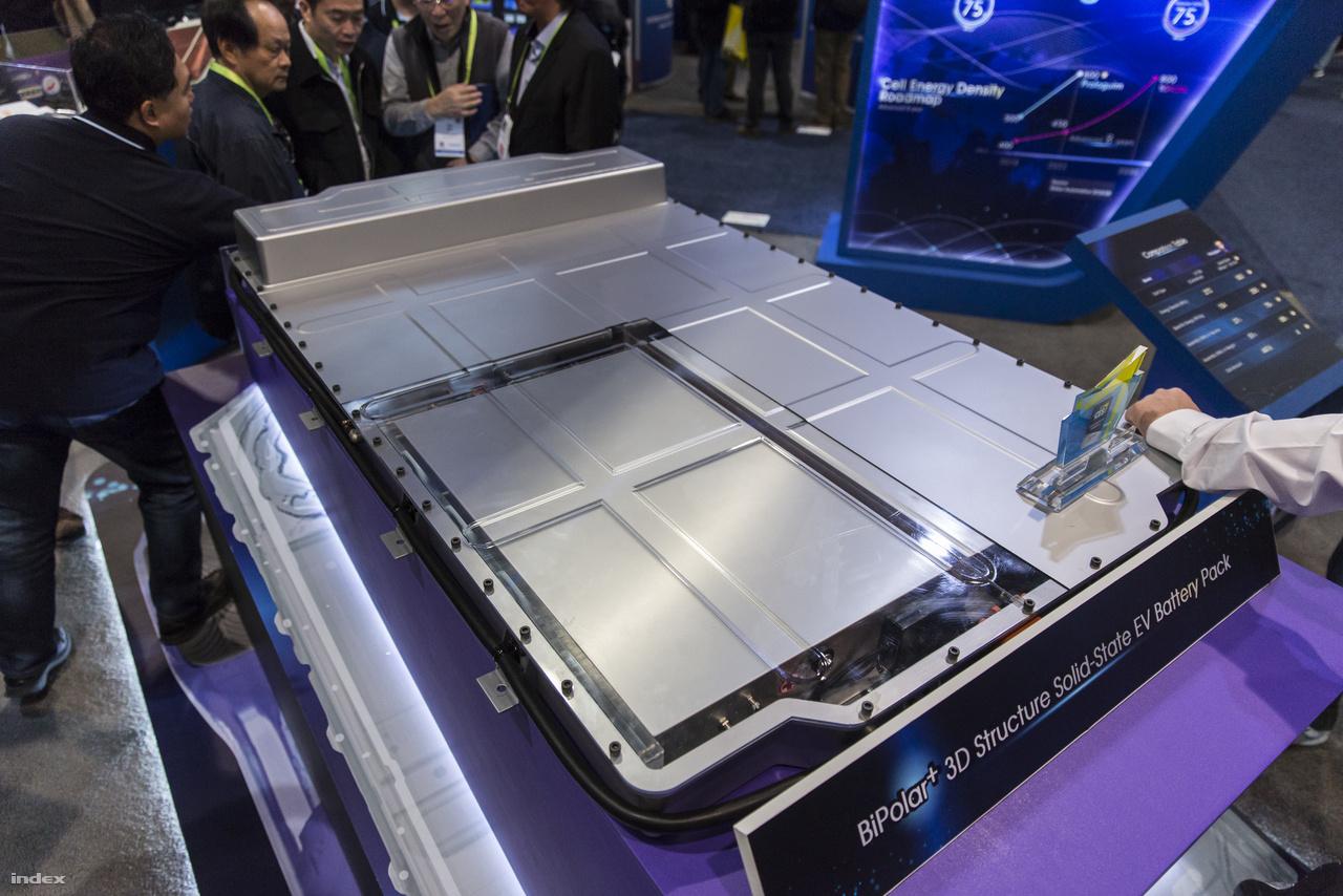 A CES-en láttunk például egy kínai céget, ami akkumulátorok fejlesztésével foglalkozik, fő céljuk a méret- és súlycsökkentés