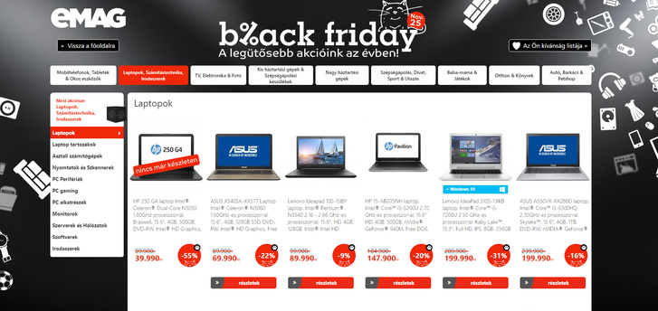 ad8177e4e9 Index - Gazdaság - Vizsgálja a GVH az Emag black friday akcióját