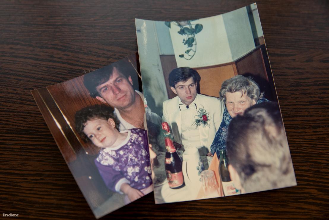 Régi családi fényképek a Simon lányok édesapjáról