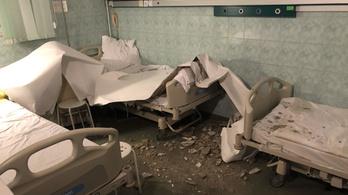 A kórház szerint a hideg miatt szakadt rá a plafon egy beteg ágyára Budapesten