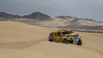 Szalayék pótkerék nélkül maradtak a Dakaron, de így is 28. helyen