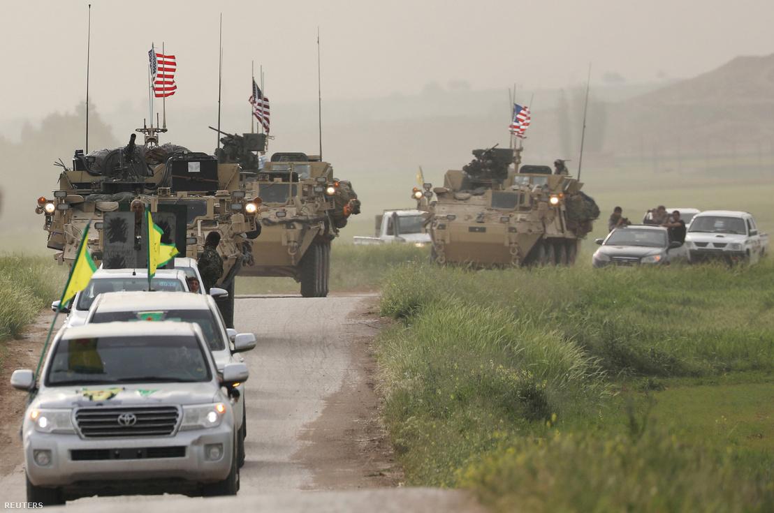 Amerikai csapatok Szíriában