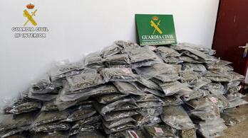 Rekordmennyiségű füvet fogtak a spanyol rendőrök