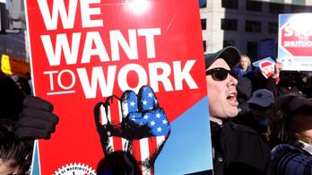 Heti 1,2 milliárd dollárba kerül, hogy Trump miatt áll az amerikai kormányzat