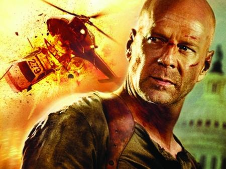 Bruce Willis és a pórul járt helikopter a Die Hard 4-ben