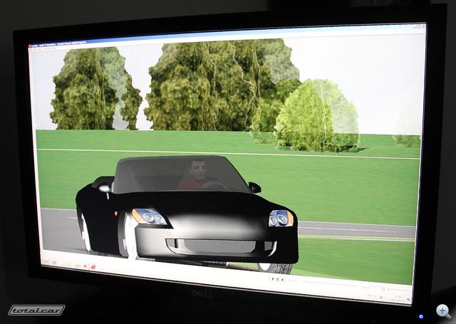 Általános nézet, semmi extra - ez nem Playstation, hanem járműdinamikai modellező szoftver