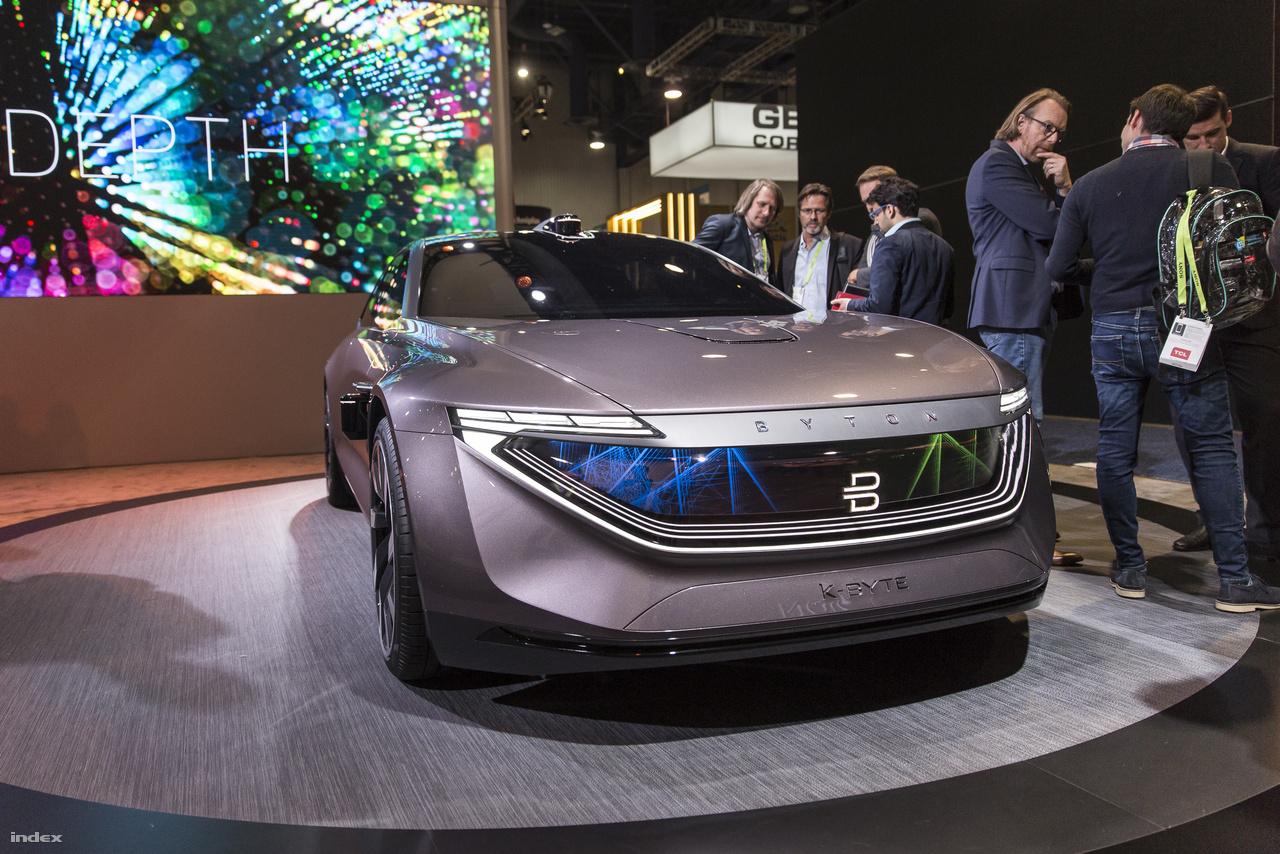 A meglehetősen sportos, Tesla-vetélytársnak szánt kínai-német elektromos autó, a Byton K-Byte 2019-ben piacra kerül.