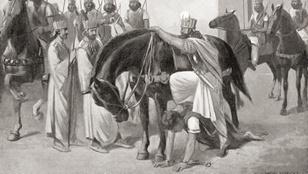 Egy elfogott római császárt zsámolyként használtak Perzsiában?
