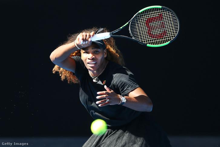 Serena Williams az Australian Openen 2019. január 10-én.