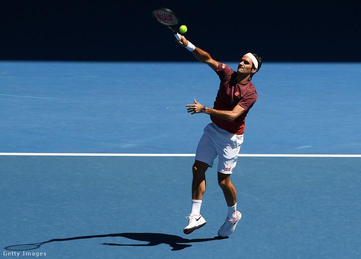Roger Federer az Australian Openen 2019. január 13-án.