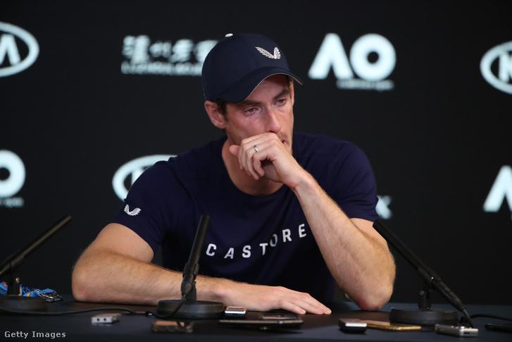 Andy Murray sajtótájékoztatón beszél visszavonulásáról Melbourne-ben 2019. január 11-én