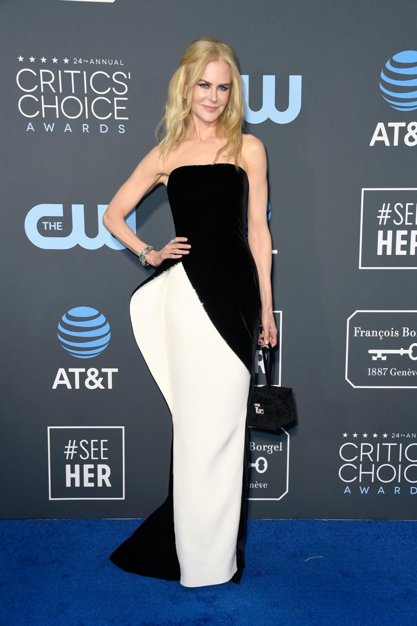 Nicole Kidman fantasztikusan nézett ki ebben az egyedi Armani-ruhában.