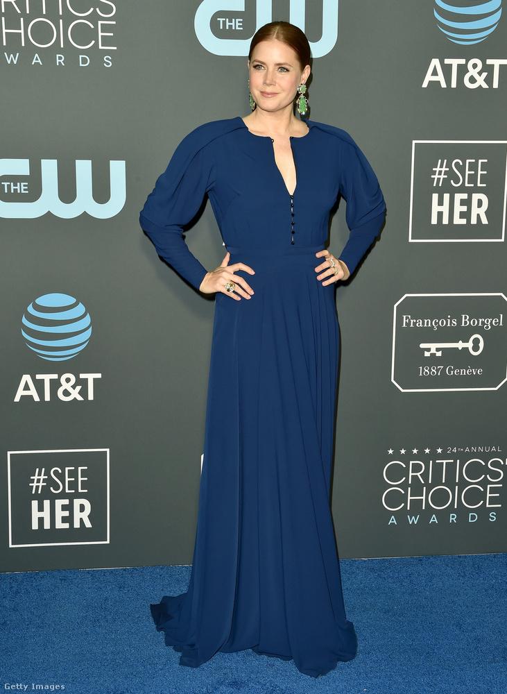 Amy Adams pedig sikeresen összeöltözött a jelenleg kék színű vörös szőnyeggel.Végül az est legfurább szettjének járó díjat megnyerő párral búcsúzunk.