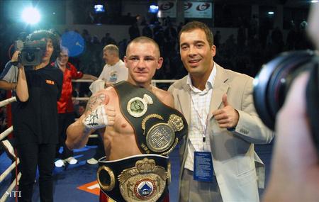 Nagy János és Rácz Félix, a Felix-Promotion ökölvívó csapat tulajdonosa