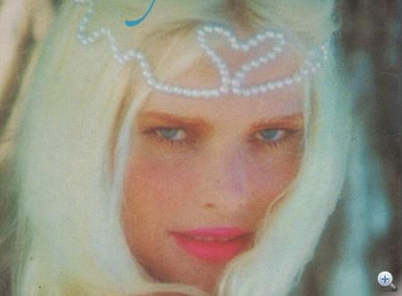 Egy memoárborítóként használt Cicciolina-fotó a '70-es évekből