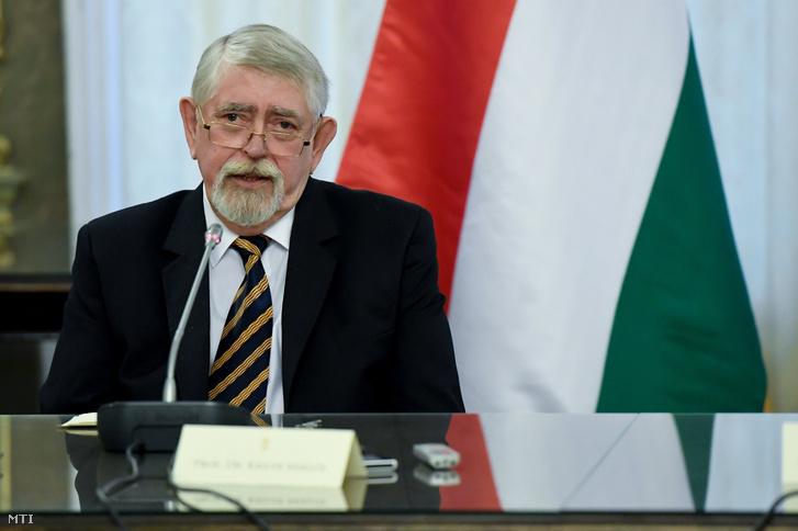 Kásler Miklós, az emberi erőforrások minisztere sajtótájékoztatót tart az egészségügyben történt változásokról és eredményekről az Emberi Erőforrások Minisztériumában 2019. január 14-én