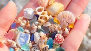 Gyönyörű kincseket sodor partra a víz