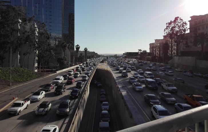 Los Angeles belváros, délután négy óra
