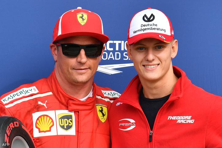 A volt Ferrari-pilóta Kimi Räikkönen és Mick Schumacher a tavalyi Olasz GP-n